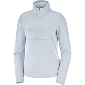 Salomon Transition Camiseta Mid 1/2 Cremallera Mujer, kentucky blue/heather